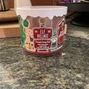 Bath and Body Works Elf Village 3 Wick Candle Used